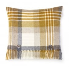 Luxury Merino Lambswool Melbourne Cushion - Gold/Grey