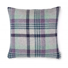 Melbourne Check Double Sided Pure New Wool Cushion - Heather 40cm x 40cm