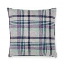 Melbourne Check Double Sided Pure New Wool Cushion - Heather 50cm x 50cm