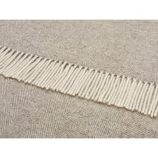 Natural Herringbone Throw - Beige