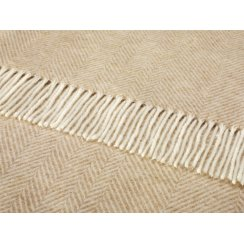 Shetland Herringbone Throw - Natural
