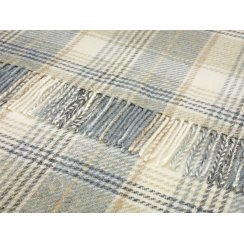 Shetland Throw - Huntingtower Aqua