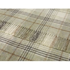 Shetland Throw - Huntingtower Sage