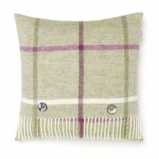 Shetland Windowpane Cushion - Fern