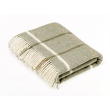 Shetland Windowpane Throw - Sage