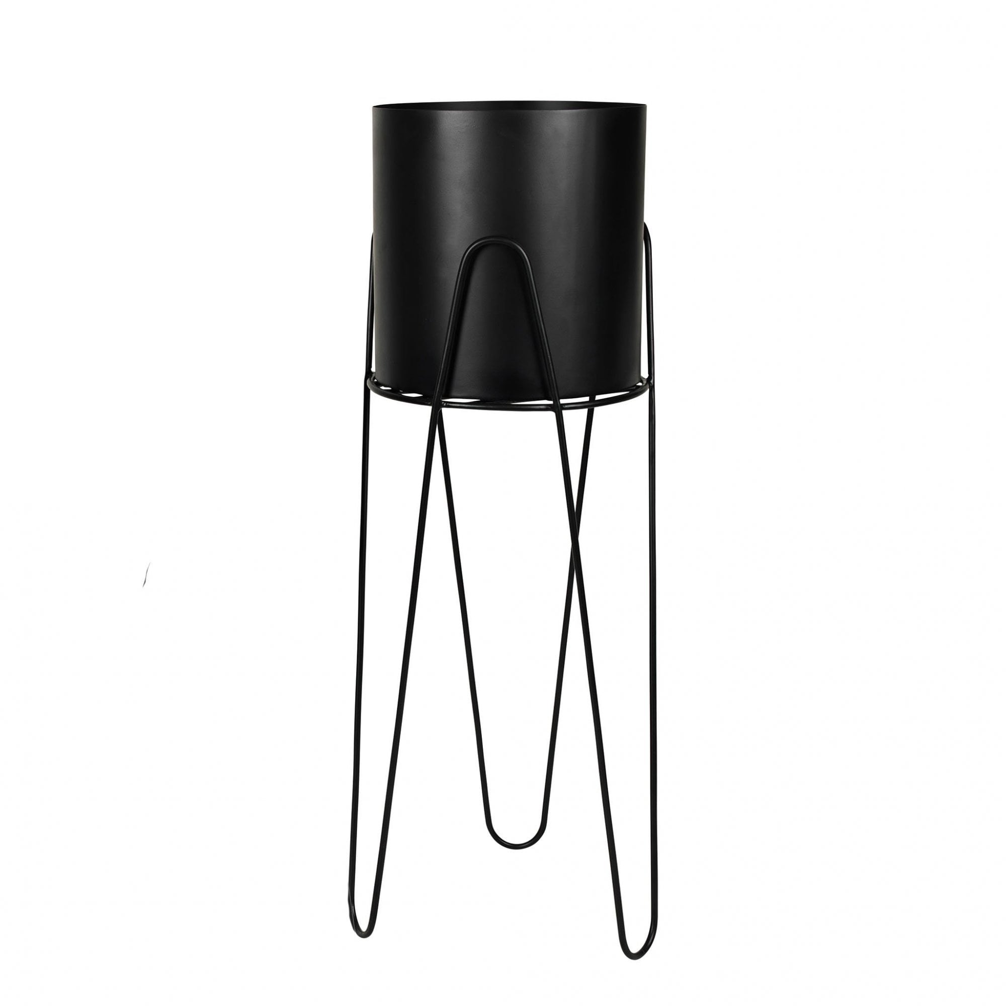 Broste Metal Plant Pot Stand Black Black By Design