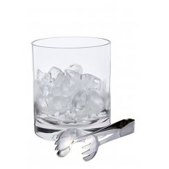 Dimple Ice Bucket and Tongs
