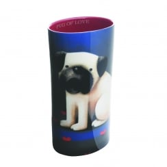 Doug Hyde Pug of Love Ceramic Vase