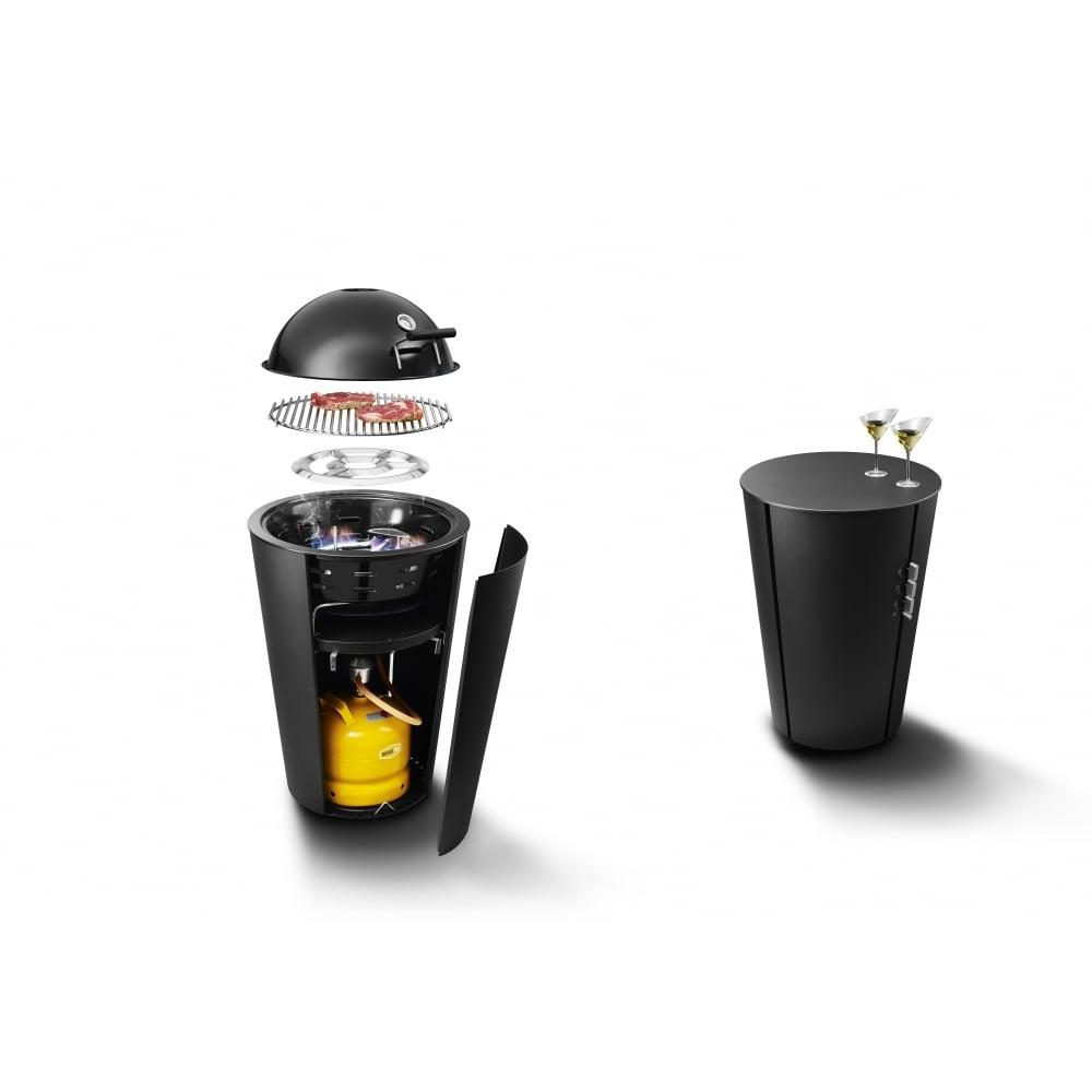 eva solo gas grill with cooking lid 59cm black black. Black Bedroom Furniture Sets. Home Design Ideas
