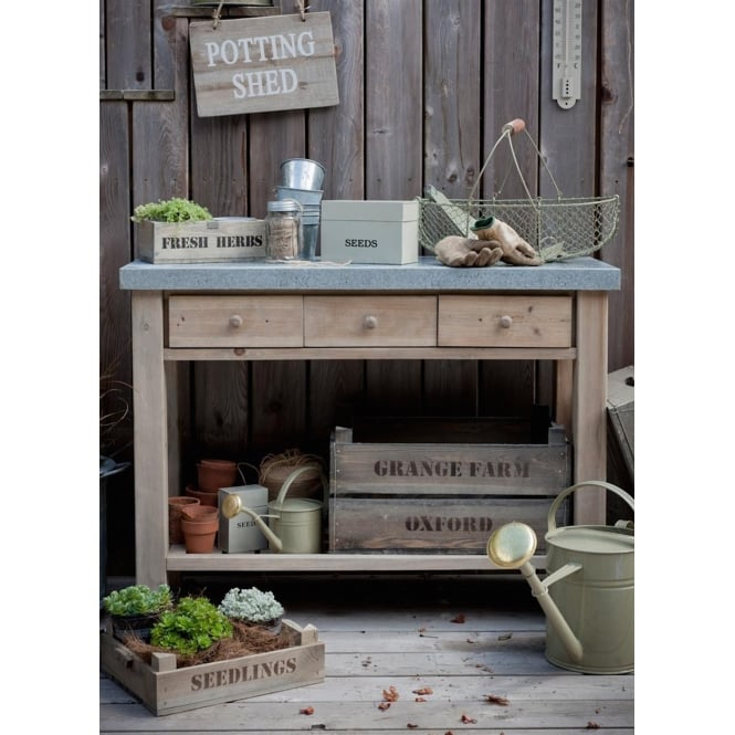 Garden Trading Aldsworth Potting Table - Spruce