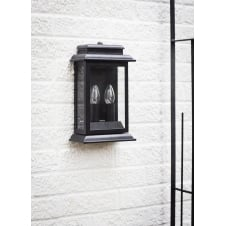 Belvedere Twin Candle Outdoor Light - Black