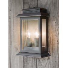 Belvedere Twin Candle Outdoor Wall Light - Grey