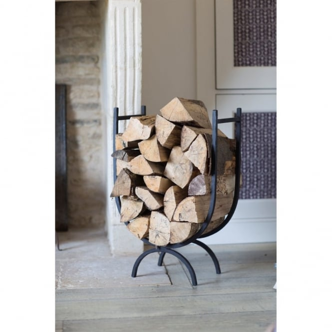 Garden Trading Black Iron Log Holder - Large