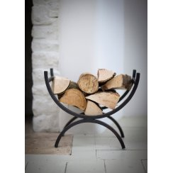 Black Iron Log Holder