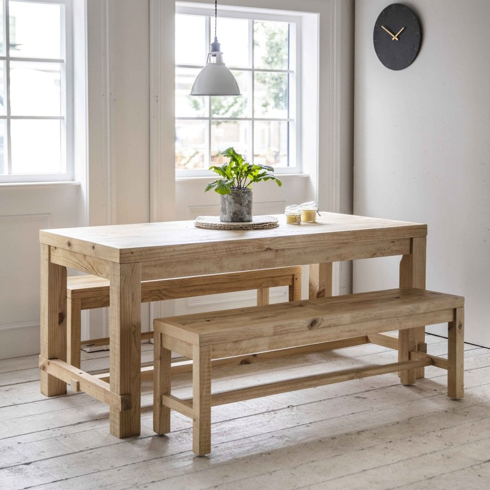Garden Trading Brookville Pine Table Bench Set Black By Design