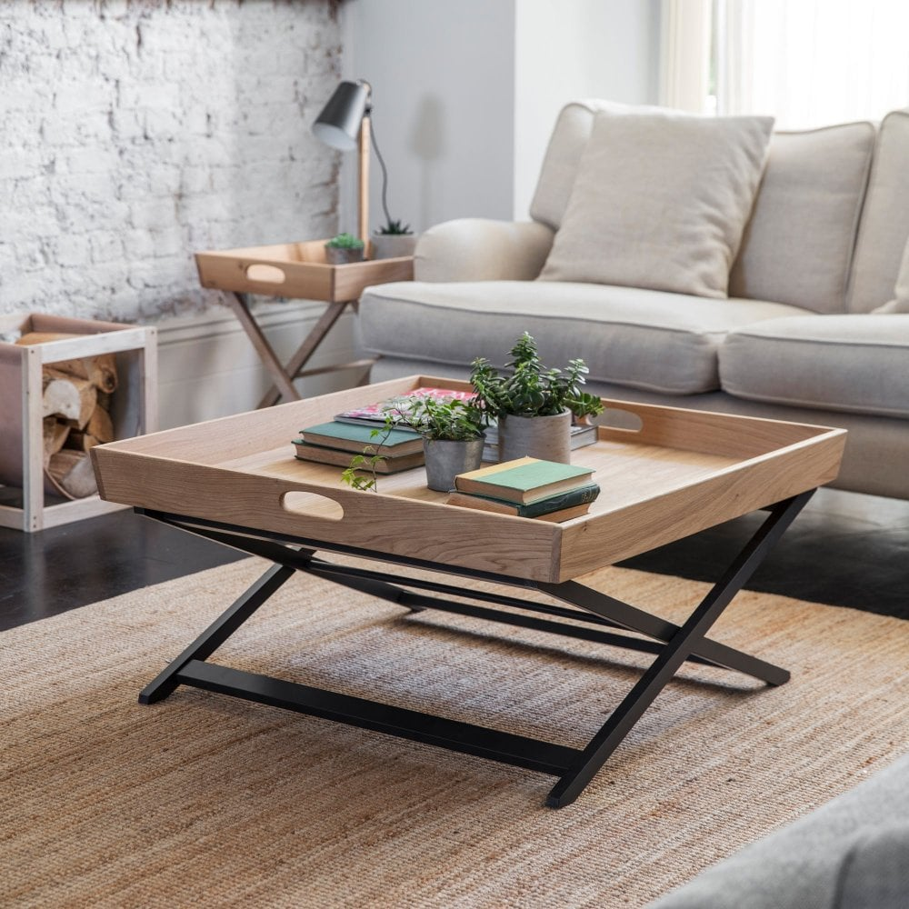Garden Trading Butlers Square Coffee Table | Oak | Black ...