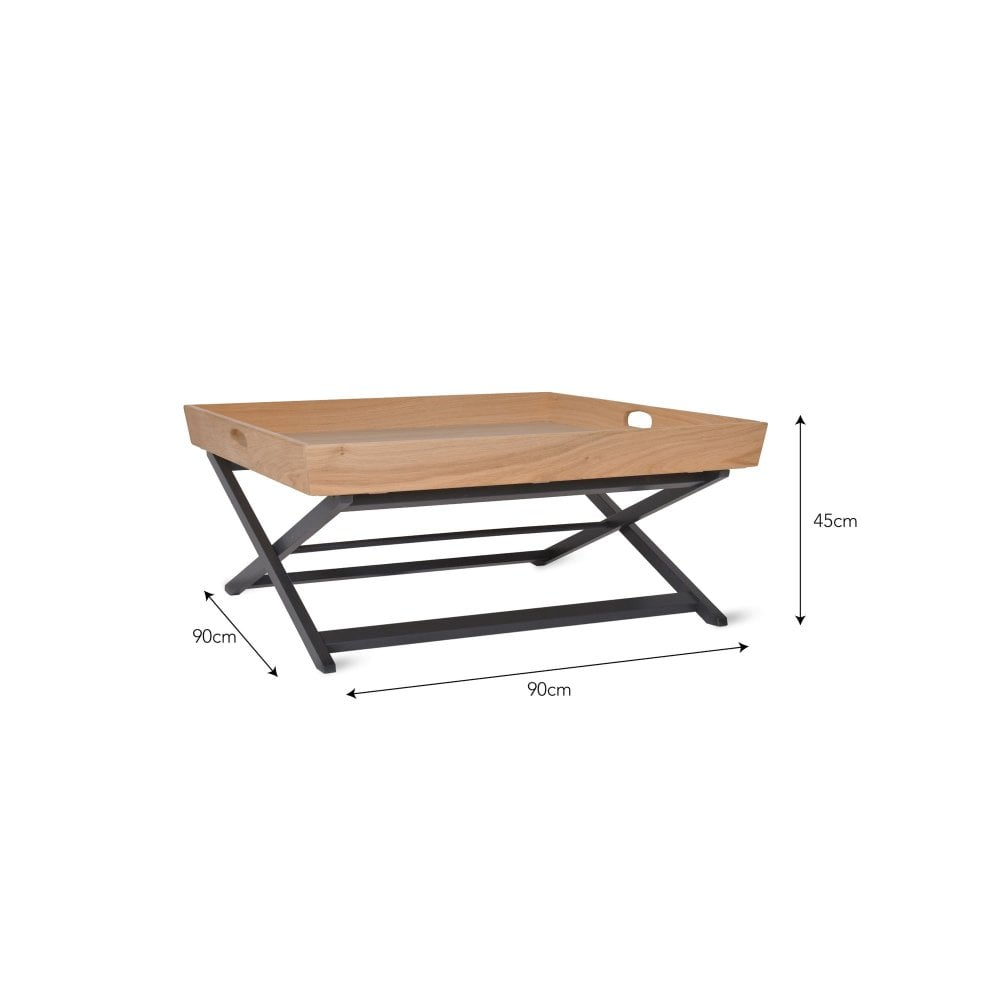 - Garden Trading Butlers Square Coffee Table Oak Black By Design