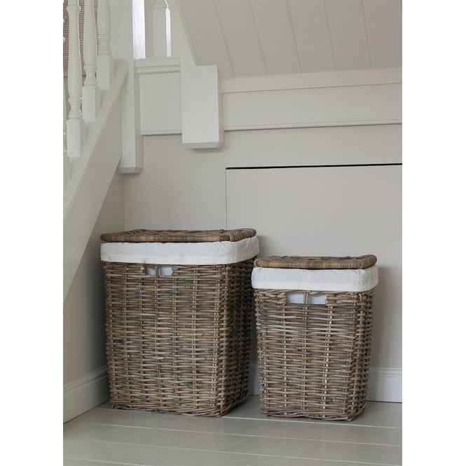 Garden Trading Cadgwith Rattan Laundry Baskets - Set of 2