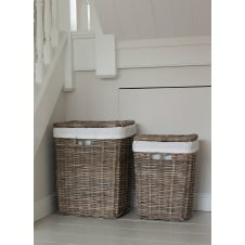 Cadgwith Rattan Laundry Baskets - Set of 2