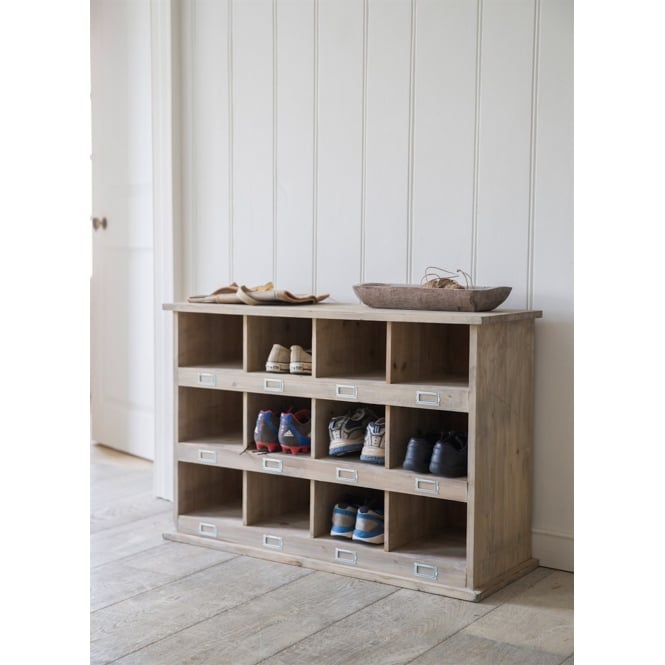 Garden Trading Chedworth Shoe Locker with 12 Cubby Holes