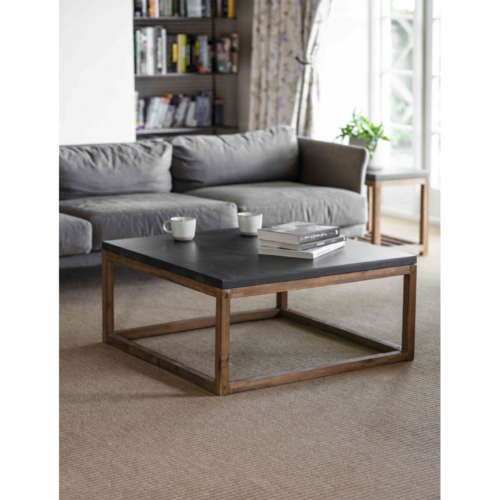 Garden Trading Chilson Coffee Table Cement Fibre And Acacia Wood
