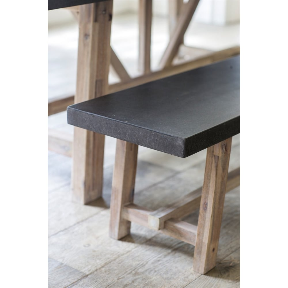 Super Chilson Table Bench Stool Set Cement Fibre Large Creativecarmelina Interior Chair Design Creativecarmelinacom