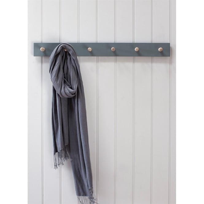 Garden Trading Clockhouse Peg Rail - 6 Pegs - Charcoal