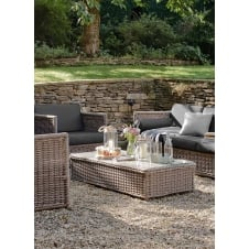 Harting Set of Sofa, 2 Chairs and Table - PE Rattan