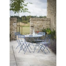 Large Rive Droite Bistro Set with Table & 4 Chairs - Dorset Blue