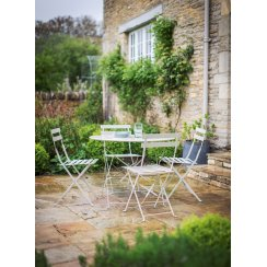 Large Rive Droite Bistro Set with Table and Four Chairs - Clay
