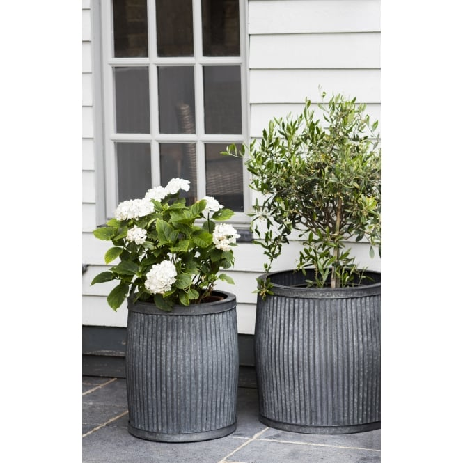 Garden Trading Large Vence Planters - Steel - Set of 2