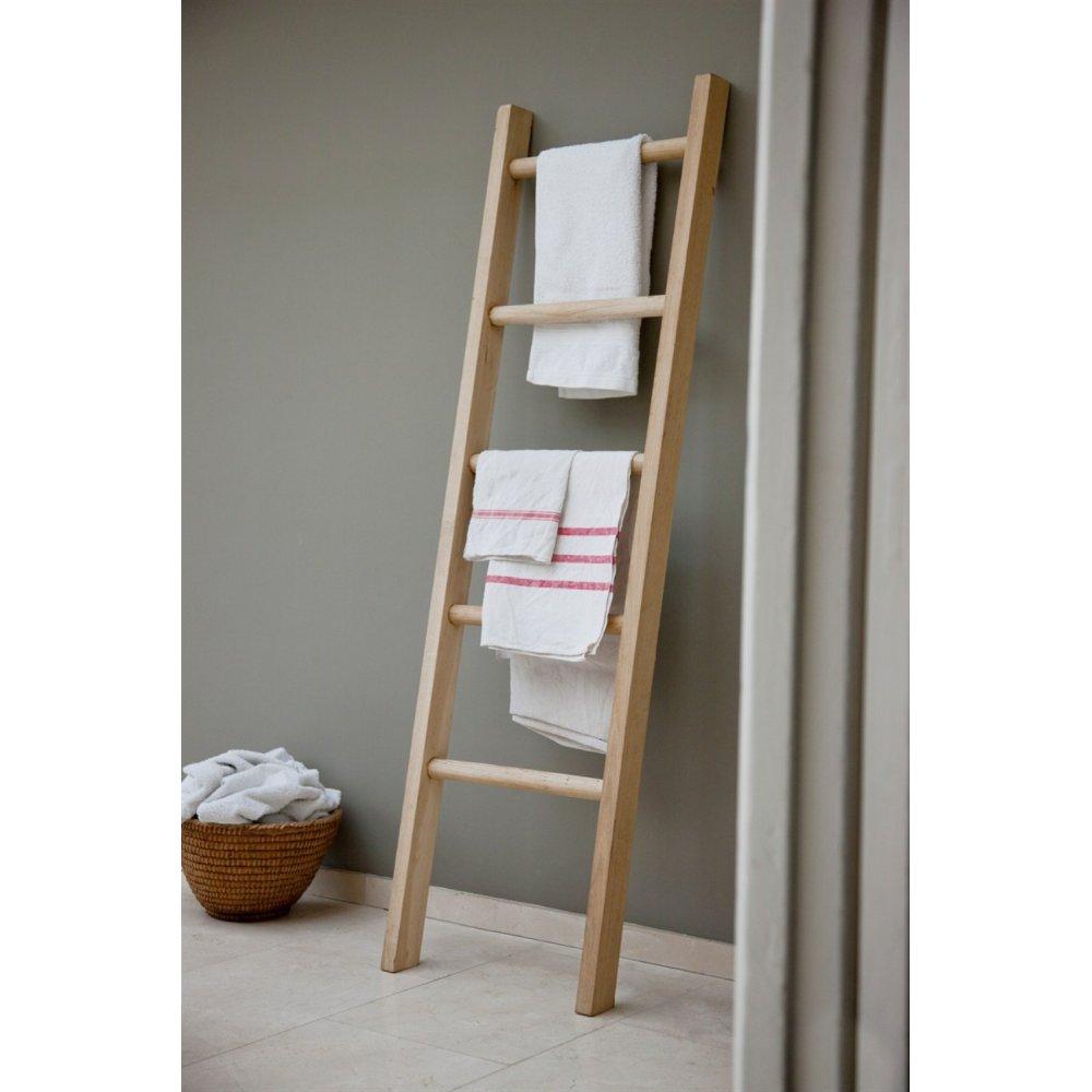 Beau Oak Bathroom Towel Ladder