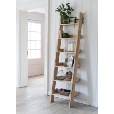 Raw Oak Shelf Ladder - Small