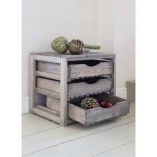 Spruce Vegetable Store with 3 Drawers