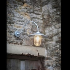 St Ives Arched Swan Neck Light - Hot Dipped Galvanised Steel