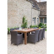 St Mawes Drinks/Planter Table - 8 Seater - Reclaimed Teak