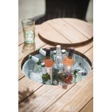 St Mawes Round Drinks/Planter Table - Reclaimed Teak