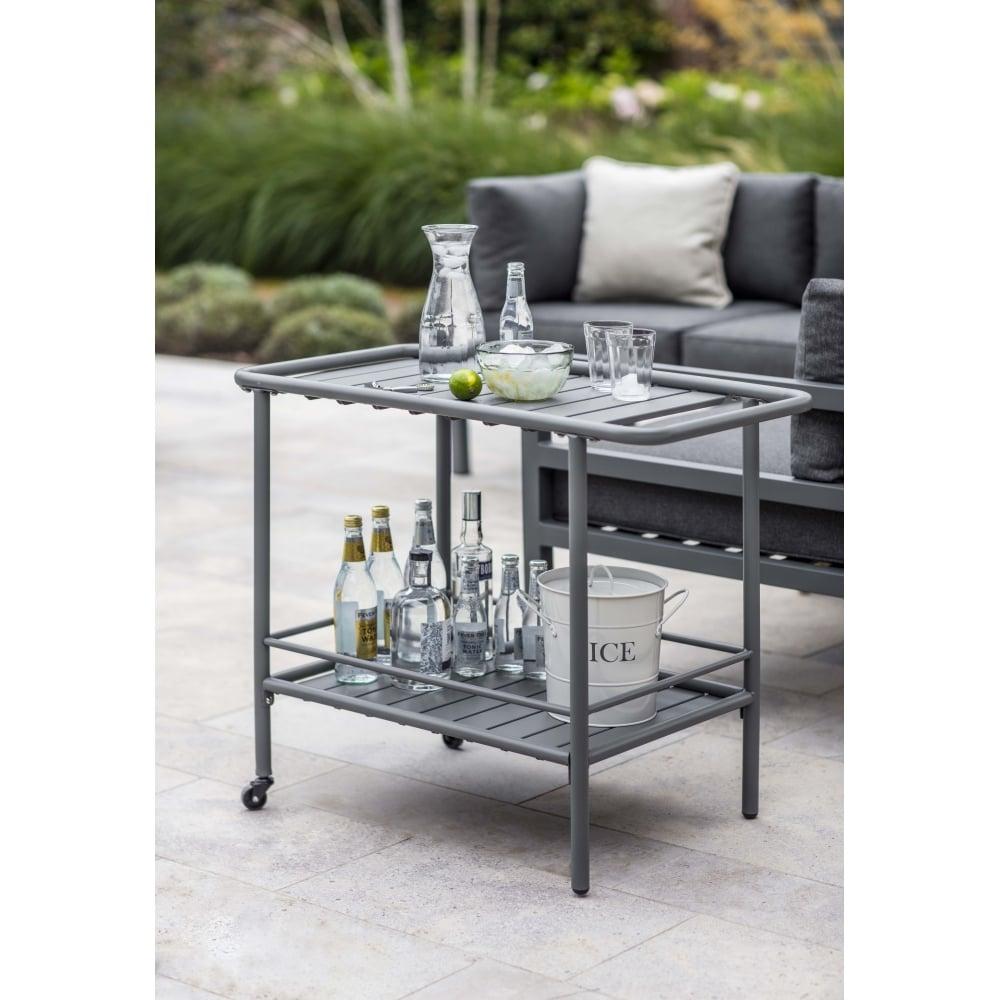 Garden Trading Steel Drinks Trolley | Charcoal | Black by Design