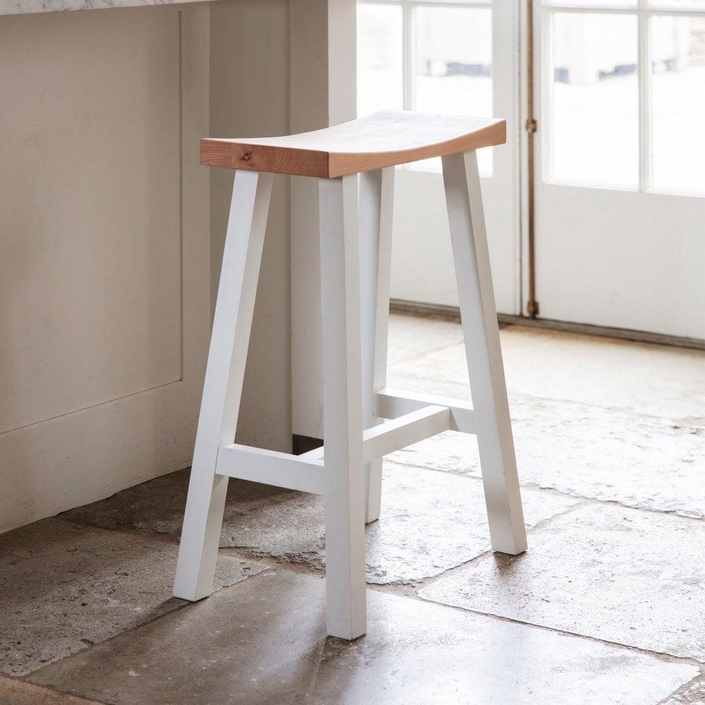 Swell Tall Clockhouse Stool In Warm White Beech Uwap Interior Chair Design Uwaporg
