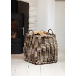 Tapered Rattan Log Basket
