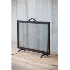 Wrought Iron Firescreen With Mesh Screen