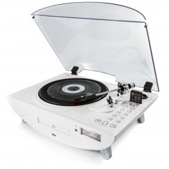 Jive Turntable/Record Player - White