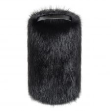 Faux Fur Doorstop - Jet Black