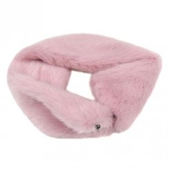 Faux Fur Switch Scarf - Candy Floss