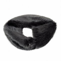 Faux Fur Switch Scarf - Charcoal