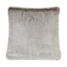 Luxury Faux Fur Feather Cushion - 40cm x 40cm - Latte