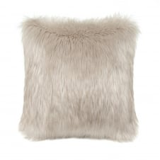 Luxury Faux Fur Feather Cushion - 40cm x 40cm - Oyster