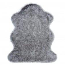 Luxury Faux Fur Floor Rug - Lady Grey