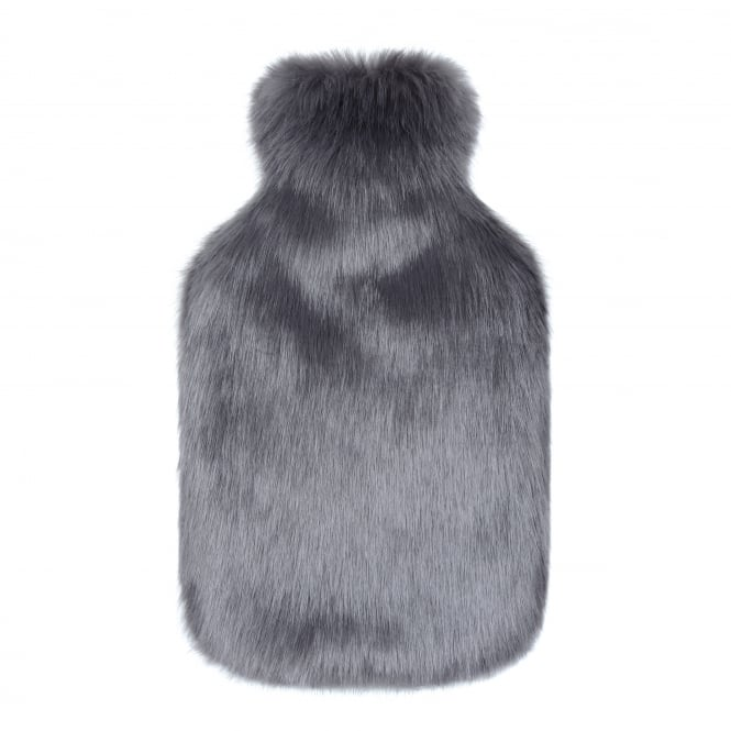 Helen Moore Luxury Faux Fur Hot Water Bottle - Steel Grey