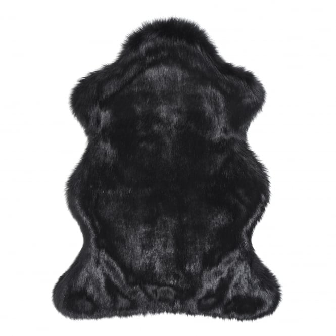 Helen Moore Luxury Faux Fur Skin/Throw - Ebony